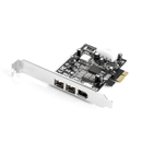 PCI-Express Karte Firewire 800+400 mit Texas Instruments Chip