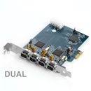 PCI Express Karte DUAL Firewire 400 4 Ports 2x Texas Instruments Chip