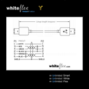CF-66-005-WE: WHITEFLEX Firewire 400 Kabel 2x 6-polig weiss + flexibel 50cm