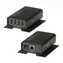 EXT-022-PRO: 4 Port USB 2.0 Cat.5/6 Extender bis 100 Meter